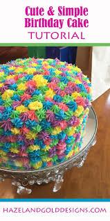 Simple Rainbow Birthday Cake Tenley Cute Birthday Cakes