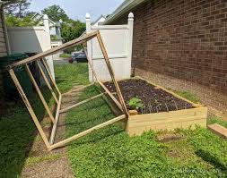 diy raised bed garden with cover