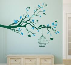 tree branch with bird cage wall art sticker vinyl wall decals wall stickers home decor living on vinyl wall art tree with tree branch with bird cage wall art sticker vinyl wall decals wall