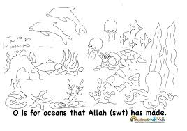 Muslim Children Coloring Pages