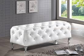 white bench bedroom