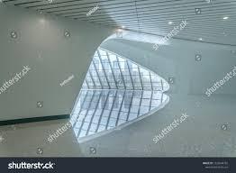 Modern Train Station Design Modern Train Station Interior Futuristic Style Stock Photo