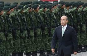 Resultado de imagen para calderón y el ejército mexicano