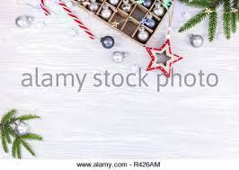Weihnachten Tannenzweigen Mit Unterschiedlicher Dekoration