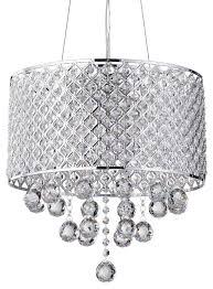 mariella 4 light crystal orb drum shade chandelier