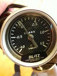 Blitz Black Light Gauges Blitz Blm Racing Series Carbon Face Meter 3 52mm 1