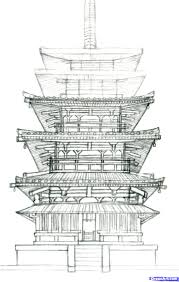 architectural buildings drawings. Exellent Buildings How To Draw A Pagoda Japanese Step By Buildings Architecture Drawings 14 1  000000101469 5 For Architectural N