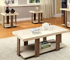 modern accent tables. Furniture Of America Oslo 3-Piece Modern Accent Tables Set, Light Oak