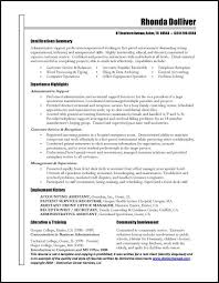 Executive Assistant Job Description Cool 44 Unique Sample Resumes For Administrative Assistants Template Free
