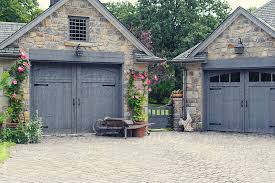 cottage garage doorsEnglish Cottage Garage Doors with Gate Between by Leigh Love