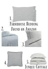 farmhouse bedding ticking stripe bedding