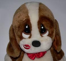 Vtg Creative Endeavors Sad Sam plush puppy dog lip print kiss big eyes toy  love #