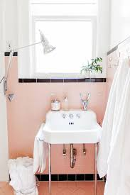 bathroom pink and black bathroom with an original retro sink eye catching pink bathrooms which