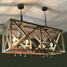 distressed round wood chandelier white attractive