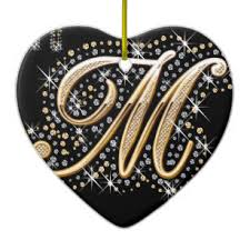 fancy letter m fancy letter m ornaments keepsake ornaments zazzle
