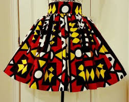 African Skirts Patterns Cool African Print Skirt Etsy