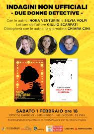 Officine Garibaldi. Due nuovi gialli di Nora Venturini e Silvia Volpi -  PISANEWS