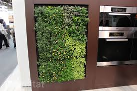 miele brings a green walled kitchen and massive herb garden to the architectural digest home design show inhabitat green design innovation