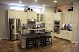 White Kitchen Color Schemes Cabinets With Granite Countertops Kitchen Color Schemes Cabinets