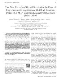 (PDF) Two New Records of Orchid Species for the Flora of Iraq ...