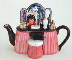 http://www.allteapots.com-Miniature Teapot Vanity Table