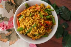 Thai Kitchen Yellow Curry Thai Yellow Coconut Curry Rice Recipe By Archanas Kitchen