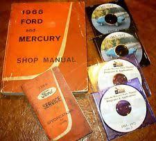 ford custom  1966 66 ford mercury galaxie 500 monterey montclair custom car shop manual book
