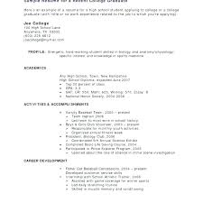 Resume Templates College Student Delectable Example Of A College Student Resume College Student Resume