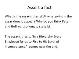 writing the claim ppt assert a fact
