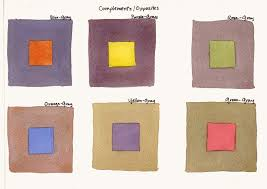 Below are examples of painting the complementary color within the gray  squares. To add to the exercise, in another set of grays I have painted an  analogous ...