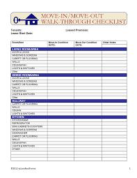 Alberta Rental Walk Through Checklist Ezlandlordforms
