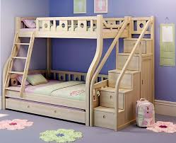 kids bunk bed with stairs. Beautiful Bed Awesome Wooden Loft Bed With Stairs Bunk Beds Movable  And Trundle Kids Bedrooms