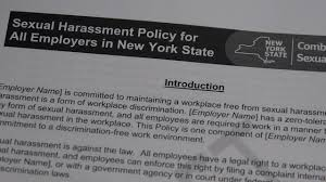 Sexual harassment law goes into effect