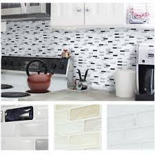 Home Decor Tile Stores Home Decor Brick Mosaic Kitchen Bathroom Foil Beauty 100D Wallpaper 38