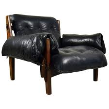 early mischievous mole chair by brazilian sergio rodrigues in black leather for at 1stdibs