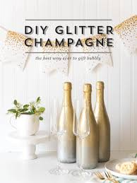 the best way ever to gift bubbly diy glitter champagne gift gift ideas