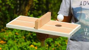 How To Make Wooden Games How to Make a Wooden Ping Pong Table Tennis Game for One Person 15