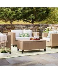 4 piece wicker set. Delighful Set Fullerton 4pc Wicker Patio Furniture Set  Linen Threshold For 4 Piece O