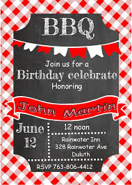 Chalkboard and picnic cloth- Adult Birthday Party Invitations