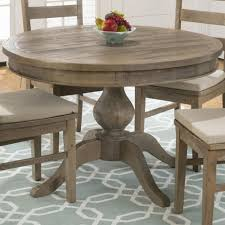 Round Table 122nd Jofran Slater Mill Pine Round To Oval Dining Table The Mine