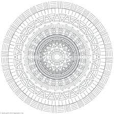 Free Mandala Coloring Tribal Mandala Coloring Pages Mandala Coloring