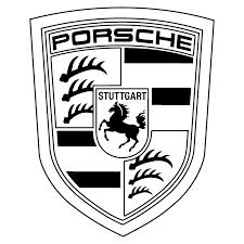 porsche logo transparent png. Modren Png Porsche Logo Black And White On Transparent Png O