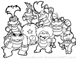 Small Picture Super Mario Coloring Page 01 Colour In Throughout Bros Pages