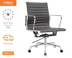eames office chair ribbed management chair style 1