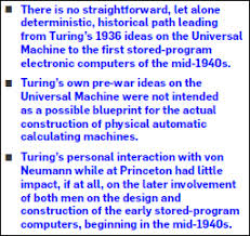 turing s pre war analog computers the fatherhood of the modern in some recent accounts von neumann s and turing s proposals and the machines built on them are unambiguously described as direct implementations of a