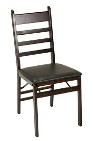 vinyl folding chairs. Cosco Products Wood Folding Chair With Vinyl Seat Wooden Ladder Back Padded Chairs D