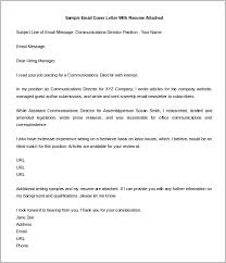 Email Cover Letter Sample With Attached Resume Benjaminimages Com