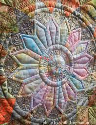 Quilt Inspiration: April 2015 & Midnight Dahlia was inspired by Marti Michell's Giant Dahlia templates and  Sharon Schamber's Piece-lique method. You might be interested to know that  ... Adamdwight.com