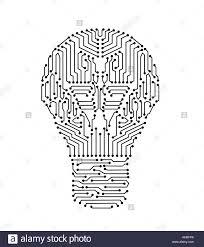 Electronic Light Board Circuit Board In Lightbulb Shape Or Electronic Light Bulb
