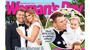 David Warner and Candice Falzon share their wedding pictures in Woman's Day